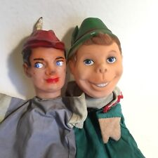 Vintage Retro Glove Hand Puppets Robin Hood & Will Scarlet