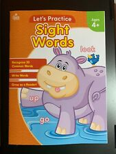 Let'S Practice Sight Words Workbook Ages 4+ Read & Write Common Words New