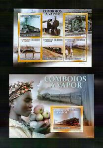 Sao Tome ** Eisenbahn Dampflokomotiven (2010)