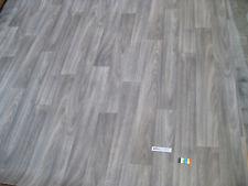 7682 PVC CV Belag Rest 200x420 grau braun schlamm Holzdekor robust Vliesrücken