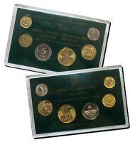 Israel Official Mint New Sheqel Coins Set 1990 Uncirculated