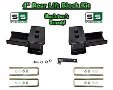 "2004 - 17 Ford F-150 F150 REAR 4"" inch Tapered Fab Lift Blocks Bumpstop + Ubolts"
