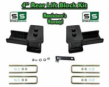"""2004 - 17 Ford F-150 F150 REAR 4"""" inch Tapered Fab Lift Blocks Bumpstop + Ubolts"""