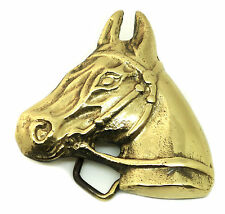 Horse Head Belt Buckle Solid Brass Pony Animal Authentic Baron Buckles Product