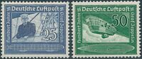 Stamp Germany Mi 669-70 Sc C59-60 1938 Lufthansa Airmail Zeppelin Airship MNH