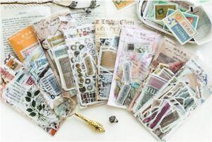 60 Pcs Vintage Stickers Kit Diary Decoration Album Scrapbooking Ins Junk Journal