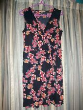 Floral Print Fitted Dress Size 10 oasis