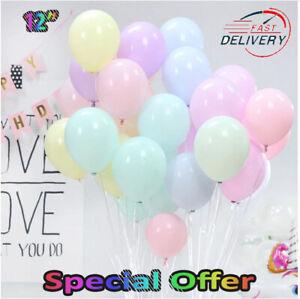 "12""in Macaron Pastel Balloons Rainbow Ballons Birthday Party Decoration UK"