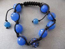 Blue Shamballa Faceted 12mm Bracelet 1pc