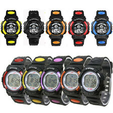 Popular Boy LED Sports Watches Digital Quartz Alarm Date Wrist Watch Chico Reloj