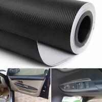 3D Car Interior Accessories Panel Black Carbon Fiber Vinyl Wrap Film Sticker
