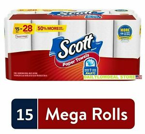Scott Paper Towels, Choose-A-Sheet - 15 Mega Rolls = 25 Regular Roll *FAST SHIP*