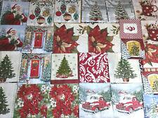 Set of 28 Paper Napkins ~ Art, Decoupage Crafts ~ XMAS FESTIVE HOLIDAY15 Styles