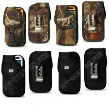 Rugged Canvas Pouch Holster Belt Clip FOR Large Cell Phones To Fit UAG Case on