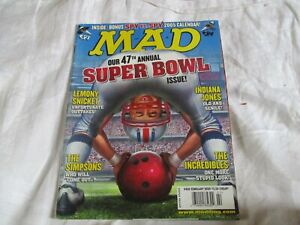 MAD MAGAZINE U.S. IMPORT EDITION FEBRUARY 2005 OUR 47th ANNUAL SUPER BOWL