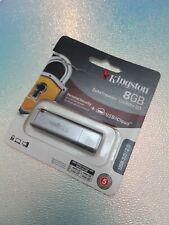 Kingston DataTraveler Locker+G3 8GB USB 3.0 Flash Drive - Silver
