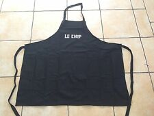Le Chef Apron Black Quality Cotton Good Fathers or Mothers Day Gift Unisex