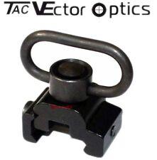 Tactical Heavy Duty Push Button QD Sling Swivel Loop Picatinny Weaver Mount Comb