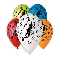 """Football Latex Balloons NEW DESIGN Helium Quality 12"""" 10pcs Asst Colours Party"""
