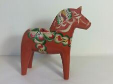 Large Swedish Dalecarlian Dala Horse Hand Carved Nils Olson Design Figurine