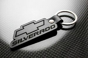 Handmade Leather Keychain Keyring for Chevrolet Silverado