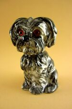 schöne alte Spardose Yorkshire Terrier Hund grau Royal Küps Porzellan 14,5 cm