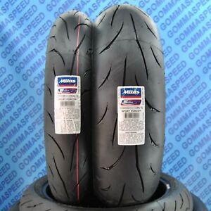 Coppia gomme moto 120/70/17 + 190/55/17 Mitas Sport Force Plus DOT21 pneumatico