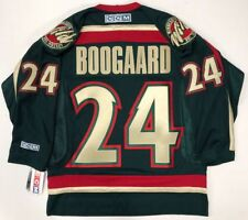 DEREK BOOGAARD MINNESOTA WILD ORIGINAL CCM GREEN REPLICA JERSEY SIZE MEDIUM NEW