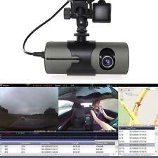 R300 Dual Lens Dash Cam Full HD Car DVR Camera Video Recorder w/ GPS Logger CHH