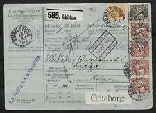 L3584 SWEDEN TO BELGIUM SHIPPING COUPON GÖTEBORG 1912