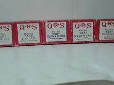 Vintage Player Piano Word Rolls, Lot of 5