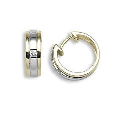 18 Carat Multi-Tone Gold Hoop Fine Earrings