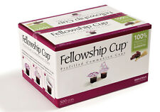 BRAND NEW -COMMUNION FELLOWSHIP CUP PREFILLED JUICE / WAFER  BOX OF 500