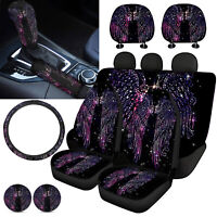 Dream Wings Car Seat Covers+Steering Wheel+Gear Shift Knob&Handbrake Cover 11pcs