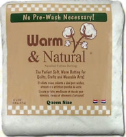 Warm Company Batting 2391 72-Inch by 90-Inch Warm and Natural Cotton Batting,