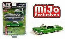 AUTOWORLD LOWRIDERS 1962 CHEVROLET IMPALA SS HARDTOP 1/64 WHITE TOP GREEN CP7657