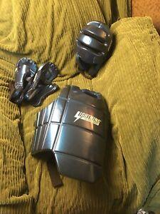 ProForce Lightning Bodyguard Chest Gear - Blue - Medium Helmet Gloves