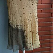 Falda de Seda Purificacion Garcia, beige, talla 40