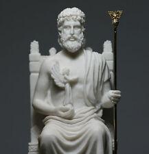 King of gods ZEUS JUPITER Greek Alabaster Statue Figurine Sculpture Decor 10.6''