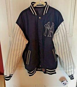 Vintage JH Design MLB New York Yankees Reversible Jacket Mens L NEW NWT *rare*