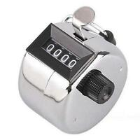 4 Digit Number Manual Hand Handheld Tally Mechanical Palm Clicker Counter BR