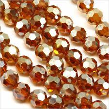 Lot de 20 Perles à FACETTES 8mm en Cristal Marron