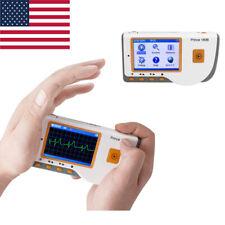 Portable Prince 180b Handheld Ecg Ekg Monitor Electrocardiogram Lcd Analysis