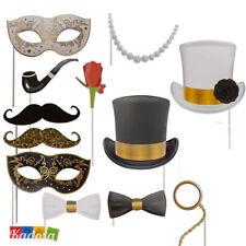 Set Photobooth GLAMOUR 12 pz Party Capodanno Festa Matrimonio Compleanno Evento