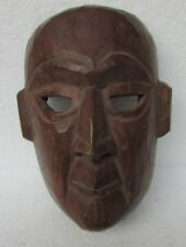 Vintage Old Wooden Hand Carved Tribal Man Mask Collectible