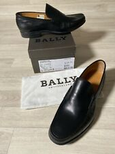 Bally Shoes Mens Loafers Slip In Formal Black Leather Shoes UK9.5 US11 EU10 FR44