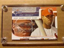 New listing Albert Pujols 2001 Fleer Game Time Rookie /2000 Mint!