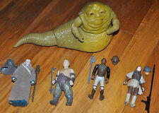 STAR WARS VTG ROTJ 1983 Jabba Palace Lando Bib Rancor Keeper LEIA BOUSHH Figures