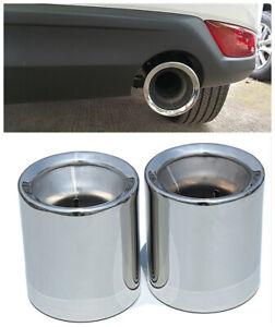304 S/Steel Chrome Exhaust Muffler Tip Pipe For Mazda 3  6 2014 2015 2016 2017
