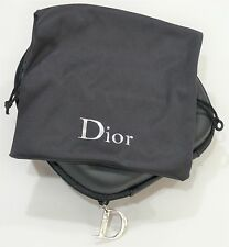 DIOR CD Zipped Case and Drawstring Pouch for SUNGLASSES New - UNMARKED CONDITION